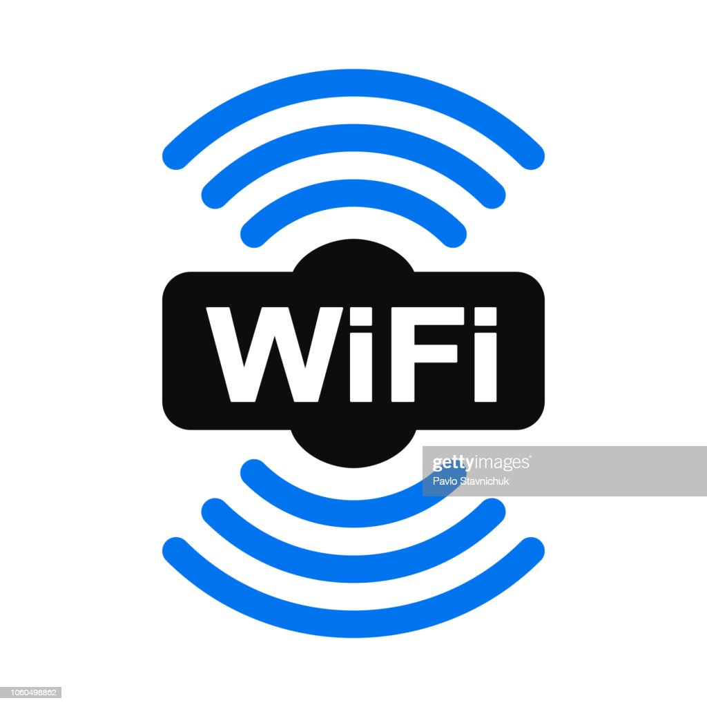 Wifi zone location icon – vector for stock