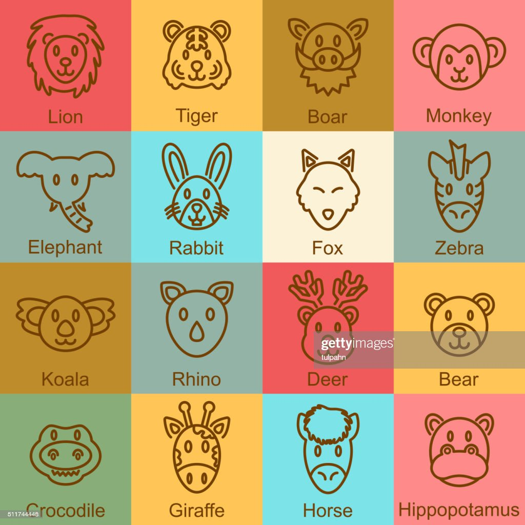 wild animal outline design