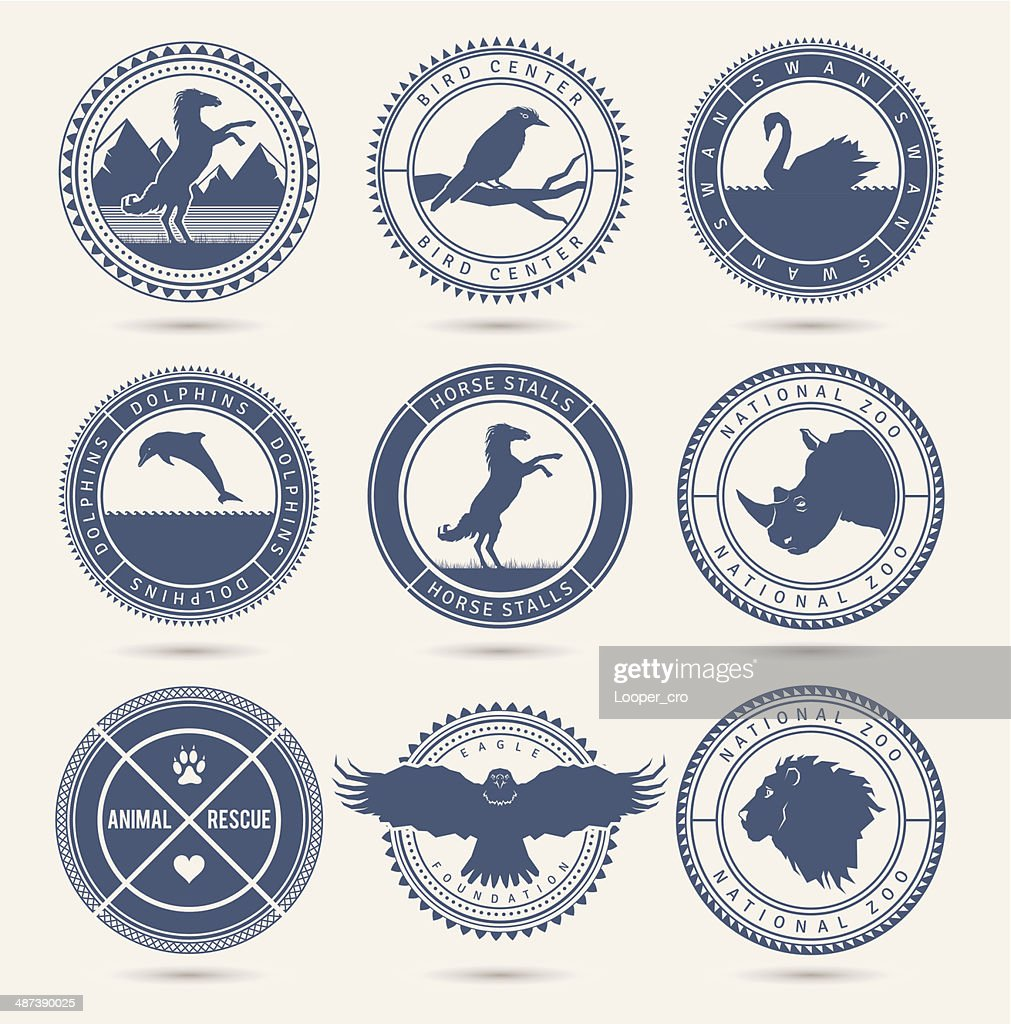 Wild animals badges