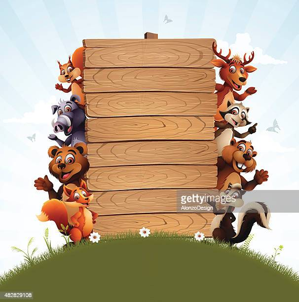 wild animals family - squirrel stock illustrations