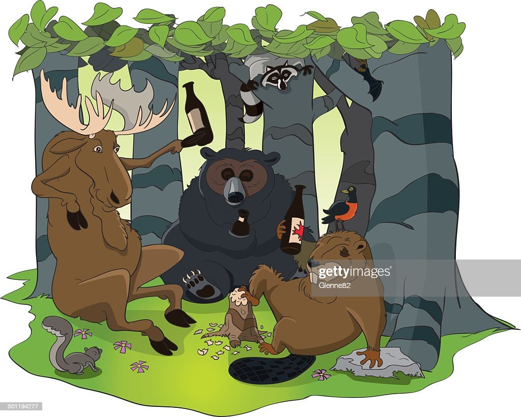 Wild Animals in the Forest
