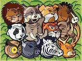 Wild animals pack