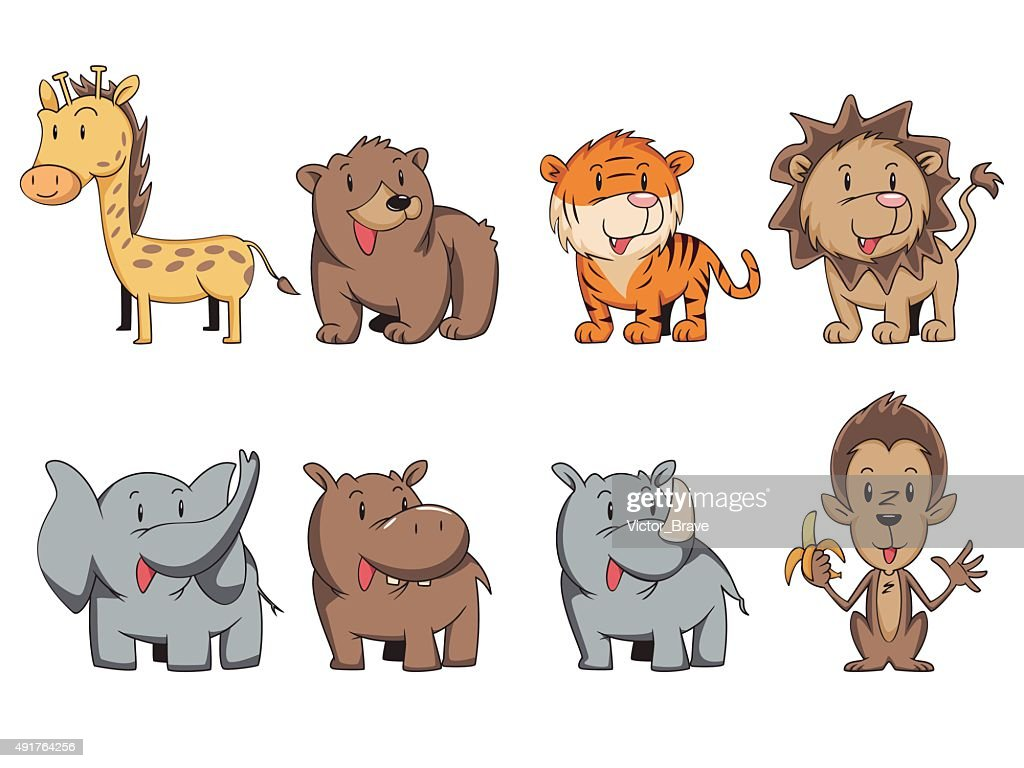 wild animals set vector art | getty images