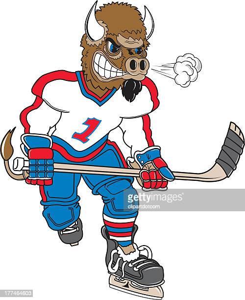 wild boar plays hocket - ice hockey uniform stock illustrations