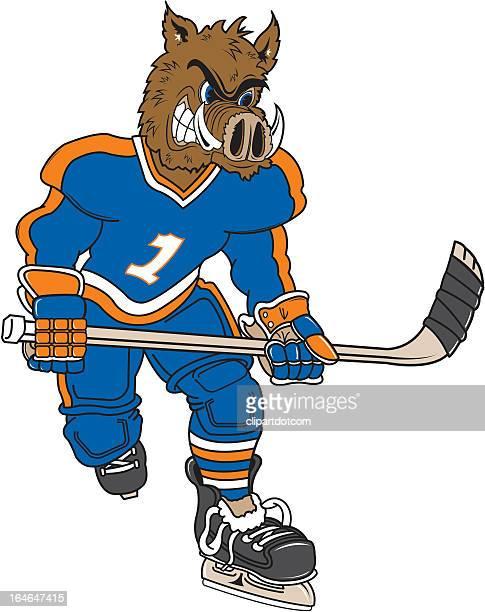 WIld Boar Plays Hockey