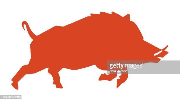 60点の猪のイラスト素材クリップアート素材マンガ素材アイコン素材