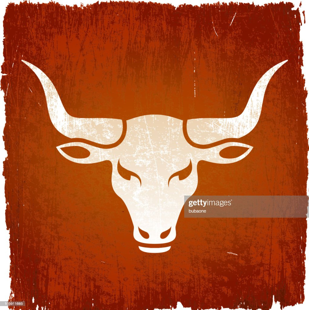 Wild bull on royalty free vector Background