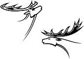 Wild deer mascots