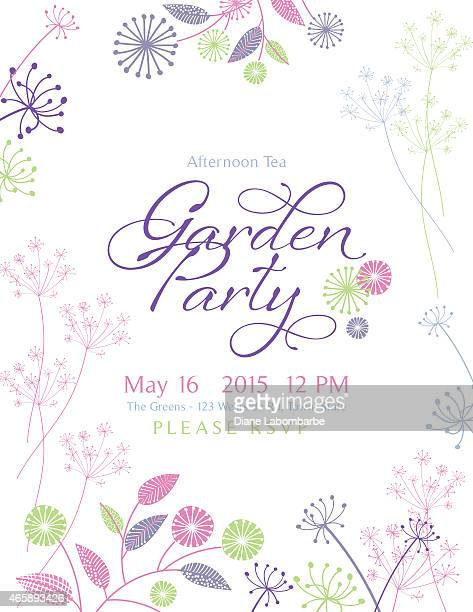 Wild Flower Design Garden Party Invitation