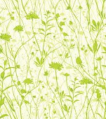 Wild flowers seamless pattern.