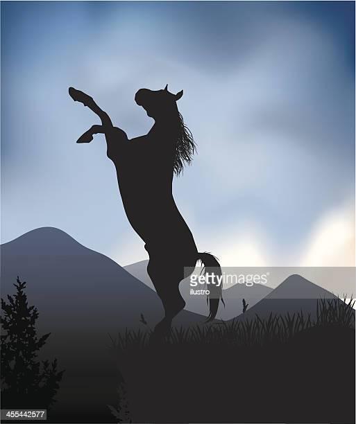 wild horse - mare stock illustrations, clip art, cartoons, & icons