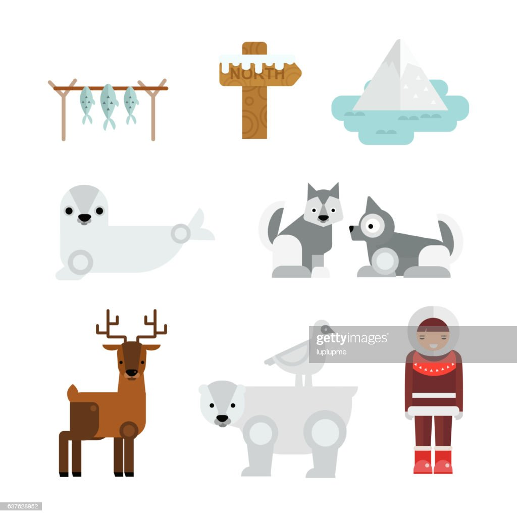 Wild north arctic people vector.