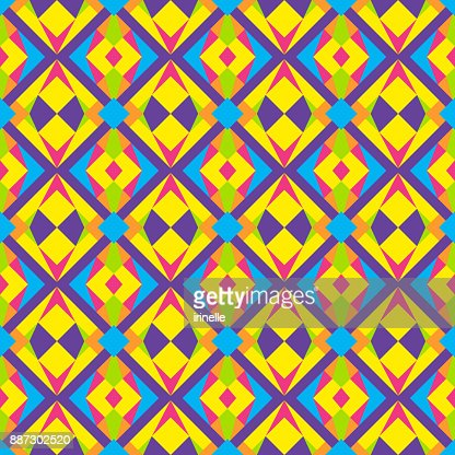 Wild Triangle Polygonal 90s Or 80s Pattern Vector Stock