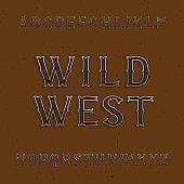 Wild West alphabet vector font.