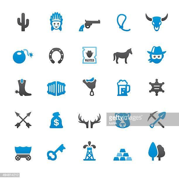 ilustraciones, imágenes clip art, dibujos animados e iconos de stock de wild west y del cowboy relacionados con iconos vectoriales - caballo familia del caballo