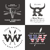 Wild West concept illustrations