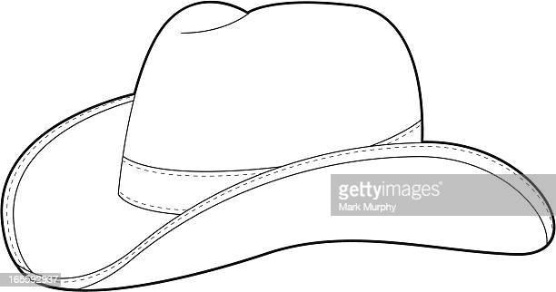 wild west cowboy hat template - cowboy hat stock illustrations, clip art, cartoons, & icons