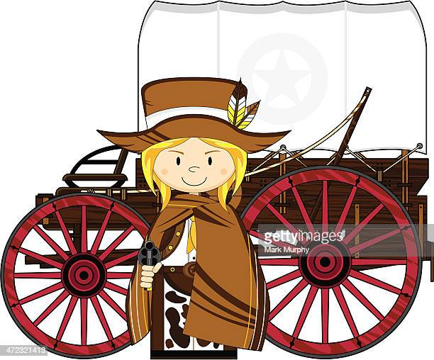 Wild West Cowgirl & Chuck Wagon