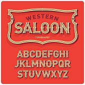 Wild west typeface Saloon