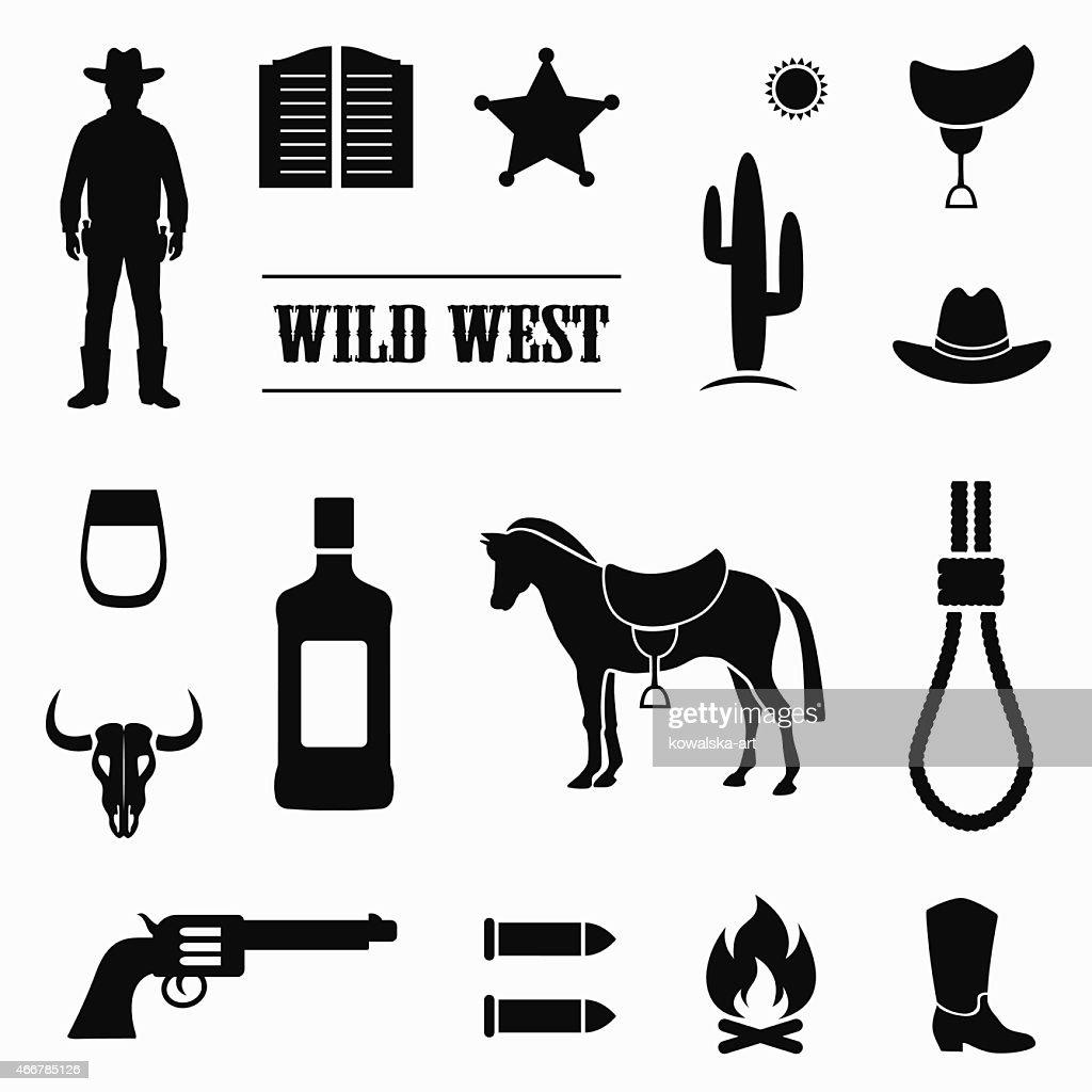 wild west vector