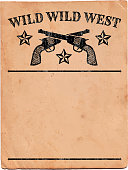 Wild West with Pistols Sign royalty free vector Background