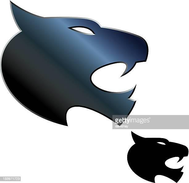 ilustraciones, imágenes clip art, dibujos animados e iconos de stock de logotipo de los wildcats - puma