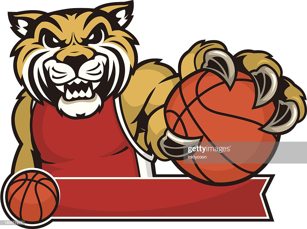Wildcat Mascot Basketball Design
