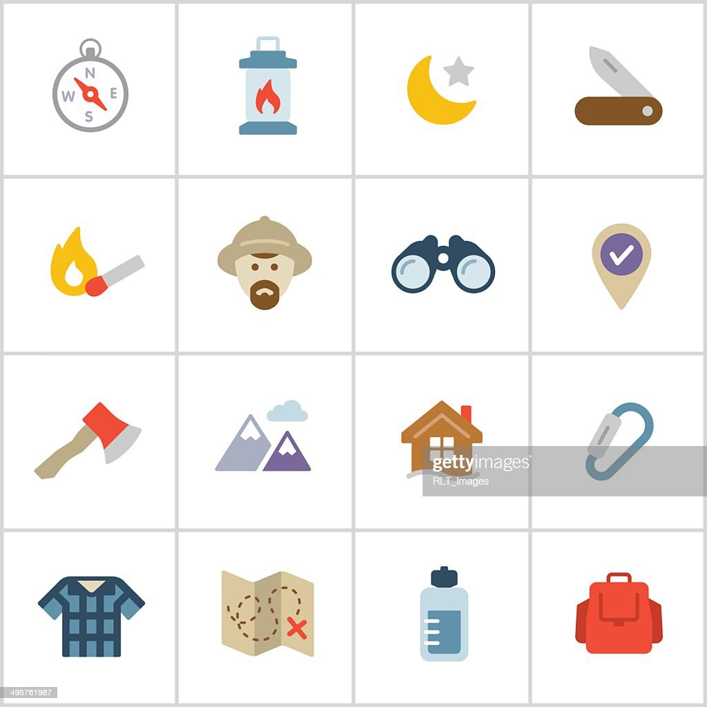 Wilderness & Exploration Icons — Poly Series