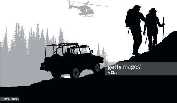 wilderness search party - wilderness stock illustrations