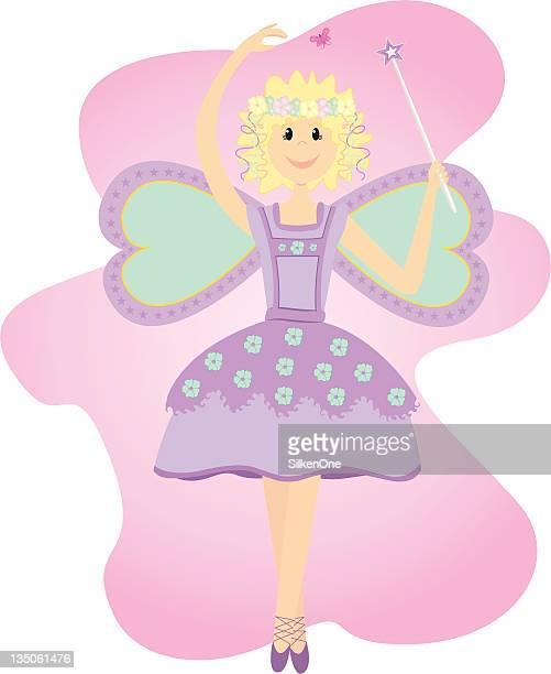 ilustraciones, imágenes clip art, dibujos animados e iconos de stock de flores silvestres de hadas - zapatilla de ballet