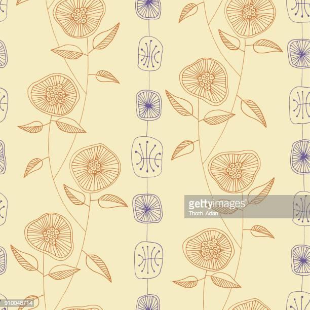 Wilde bloemen n ° 3 (handgemaakte patroon)
