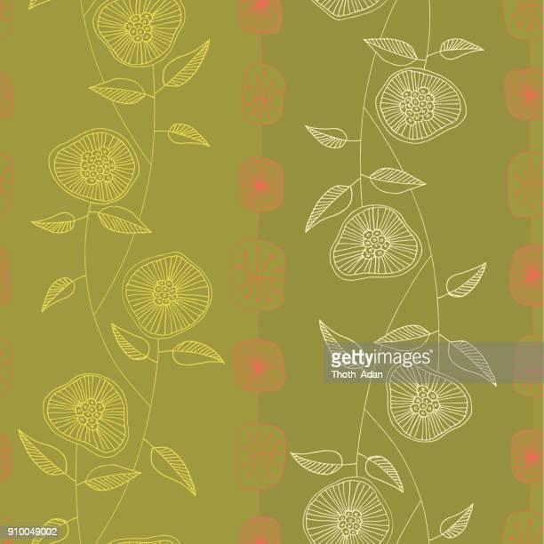 Wilde bloemen n ° 4 (handgemaakte patroon)