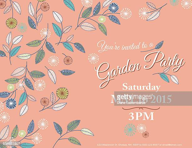 Wildflowers Spring Garden Party Invitation Template