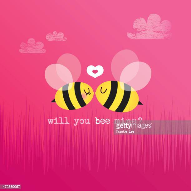 will you bee mine? - bumblebee stock illustrations, clip art, cartoons, & icons