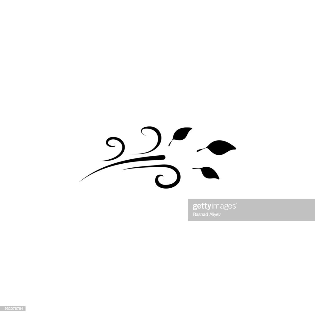 wind and leaves icon. Element of weather elements illustration. Premium quality graphic design icon. Signs and symbols collection icon for websites, web design, mobile app