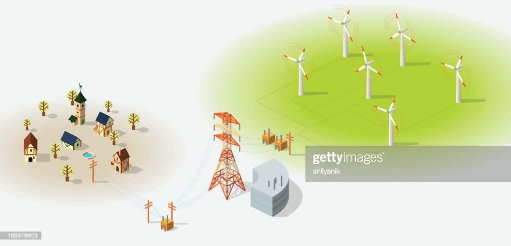 wind energy : stock illustration