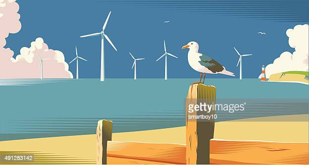 Wind farm on the coast