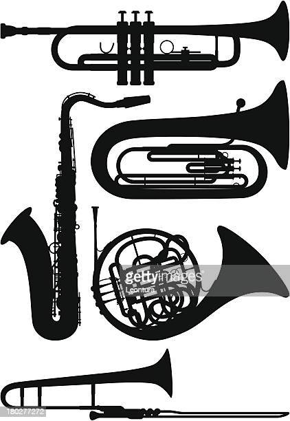 wind instruments - saxaphone stock illustrations, clip art, cartoons, & icons