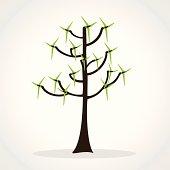 wind mill tree