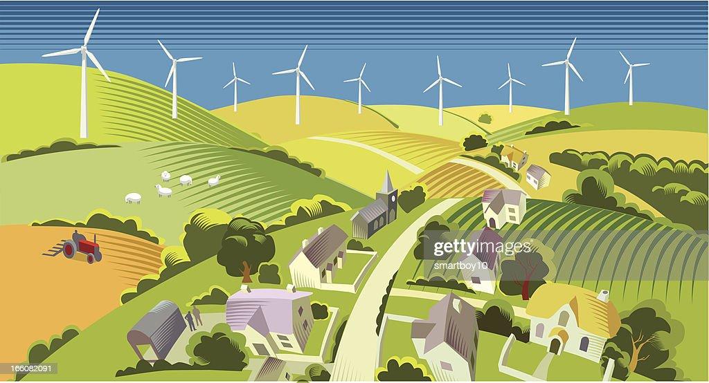 Wind power : stock illustration