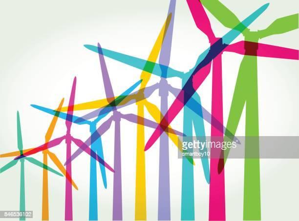 bildbanksillustrationer, clip art samt tecknat material och ikoner med vindkraft - vindkraft