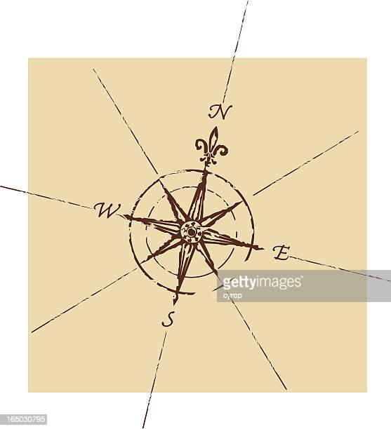 ウィンドローズコンパス - 円形方位図点のイラスト素材/クリップアート素材/マンガ素材/アイコン素材