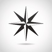 Wind rose icon.