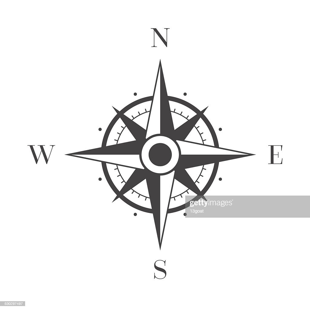 Wind Rose on White Background