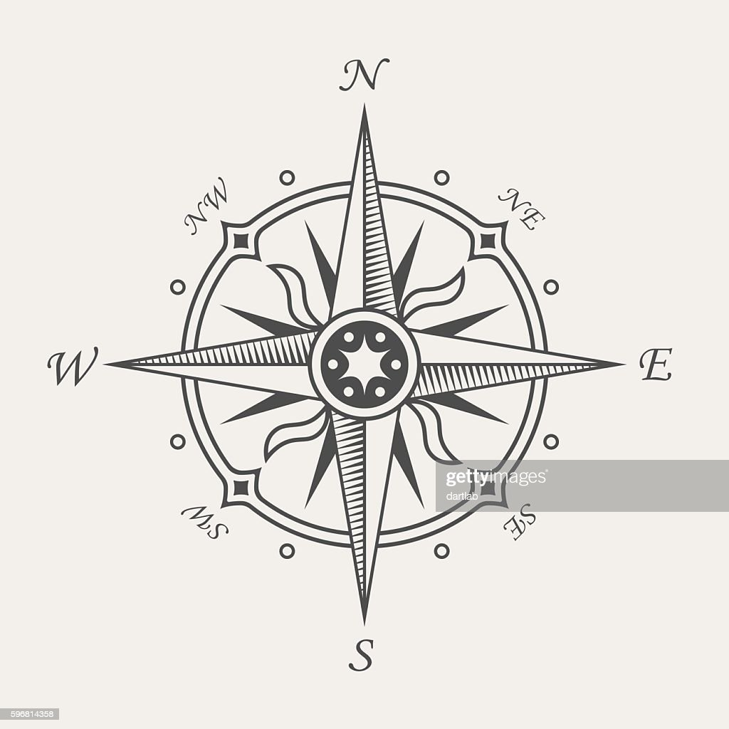Wind rose or compass symbol