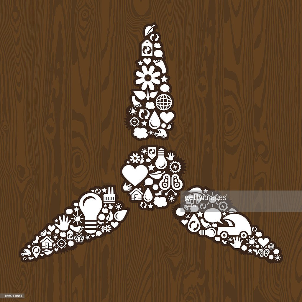 Wind Turbine Symbol On The Wood Vector Art Getty Images