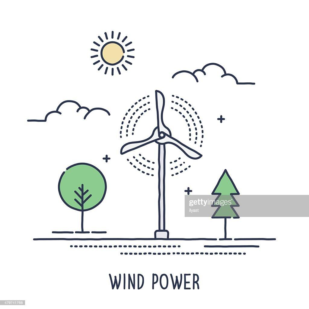 Wind Turbine Symbol Vector Art Getty Images