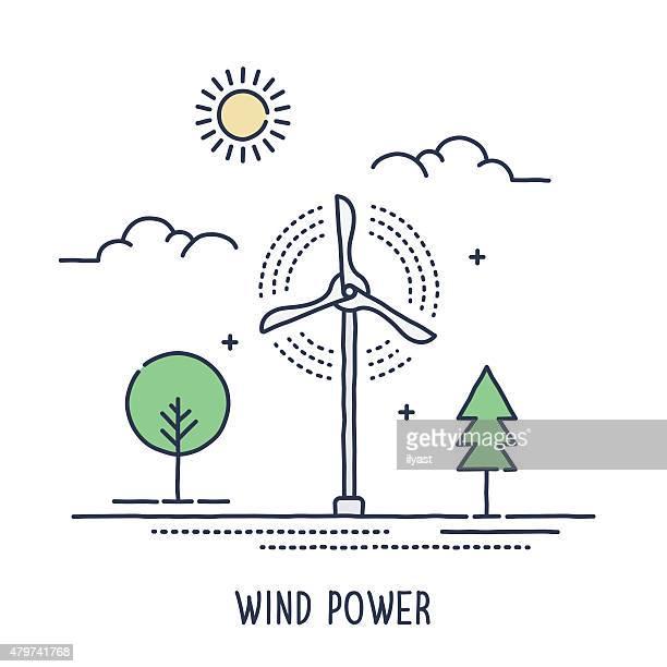 ilustraciones, imágenes clip art, dibujos animados e iconos de stock de turbina de símbolo - fuerzas de la naturaleza