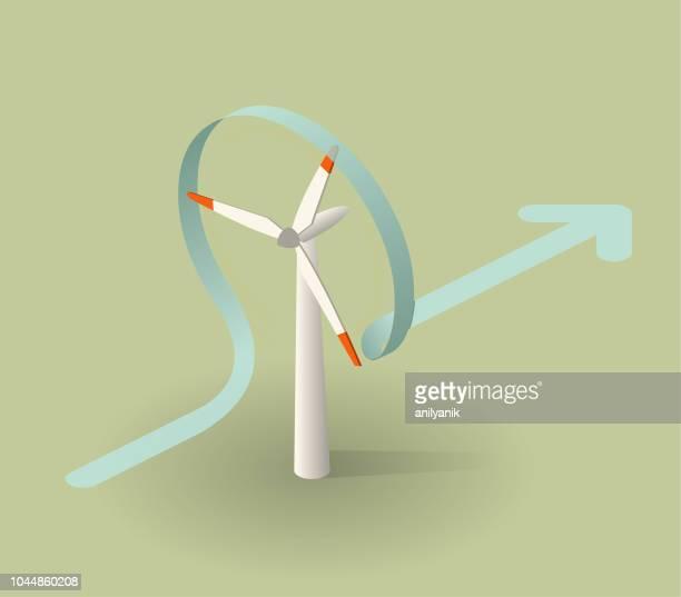 bildbanksillustrationer, clip art samt tecknat material och ikoner med vindkraftverk - vindsnurra jordbruksbyggnad