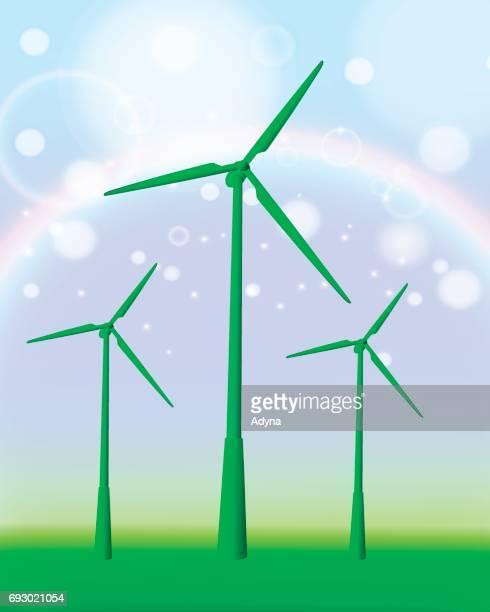 ilustraciones, imágenes clip art, dibujos animados e iconos de stock de aerogenerador - energias renovables
